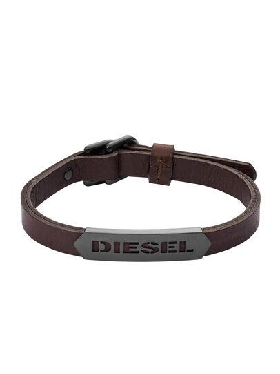 Diesel - BRACELET DX1000, Braun - Armbänder - Image 1