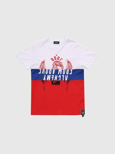 Diesel - TJUSTA1, Weiß/Rot/Blau - T-Shirts und Tops - Image 1