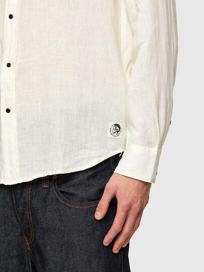 Diesel - S-EAST-LONG-LIN, Blanc - Chemises - Image 4