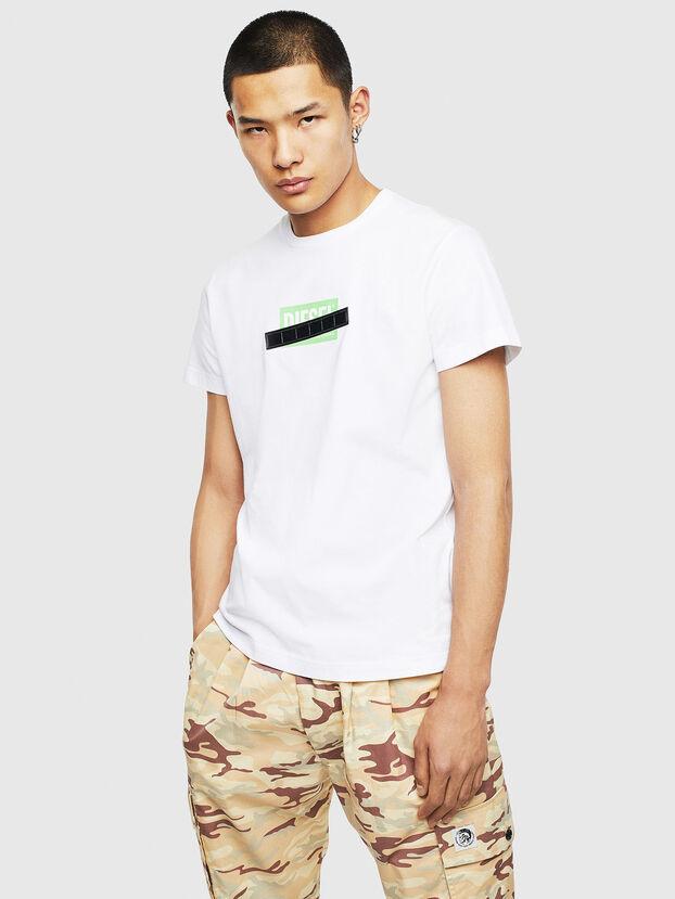 T-DIEGO-S7, Weiß/Grün - T-Shirts