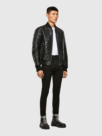 Diesel - L-FUTURE, Black - Leather jackets - Image 6