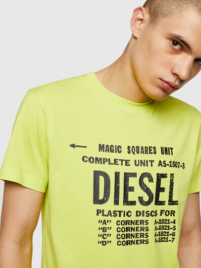 Diesel - T-DIEGO-B6, Neongelb - T-Shirts - Image 3
