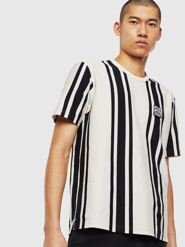 T-STRIP-J1, Weiß/Schwarz - T-Shirts