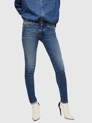 Slandy Low 083AN, Mittelblau - Jeans
