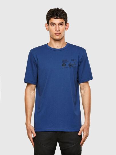 Diesel - T-JUST-A39, Blu - T-Shirts - Image 1