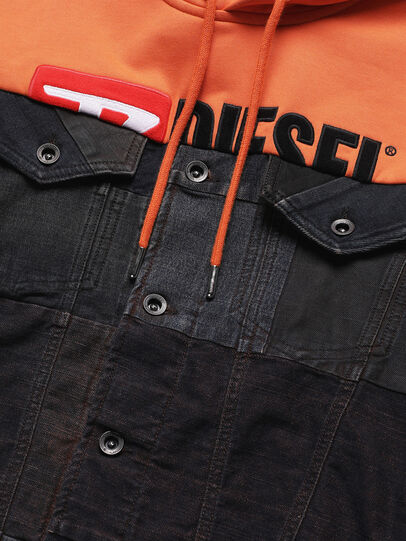 Diesel - D-BNHILL55, Orange - Denim jacken - Image 4