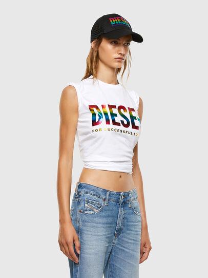 Diesel - BFOWT-SILY-P, Weiß - T-Shirts - Image 4
