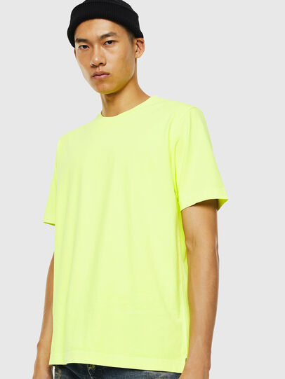 Diesel - T-JUST-SLITS-FLUO, Neongelb - T-Shirts - Image 1