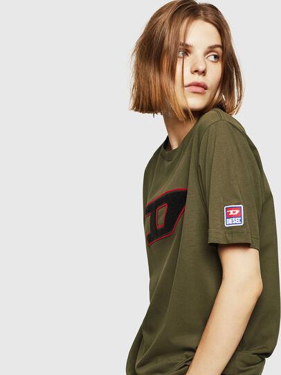 Diesel - T-JUST-DIVISION-D-FL, Armeegrün - T-Shirts - Image 5
