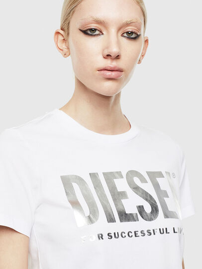 Diesel - T-SILY-WX, Weiss/Grau - T-Shirts - Image 3