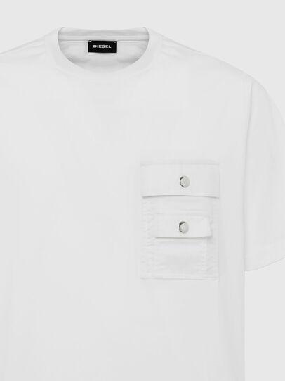 Diesel - T-TASK-SLITS, Weiß - T-Shirts - Image 3