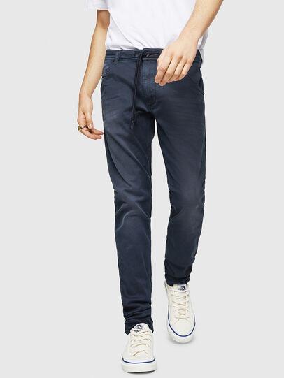 Diesel - Krooley Long JoggJeans 0670M, Dunkelblau - Jeans - Image 1