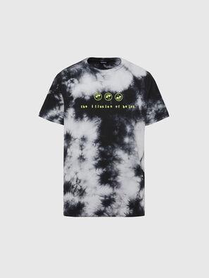 T-JUST-SLITS-X86, Schwarz/Weiss - T-Shirts
