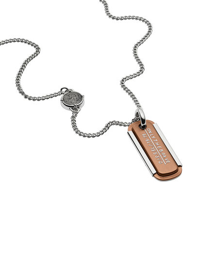 Diesel - NECKLACE DX1095, Bronze - Halsketten - Image 2