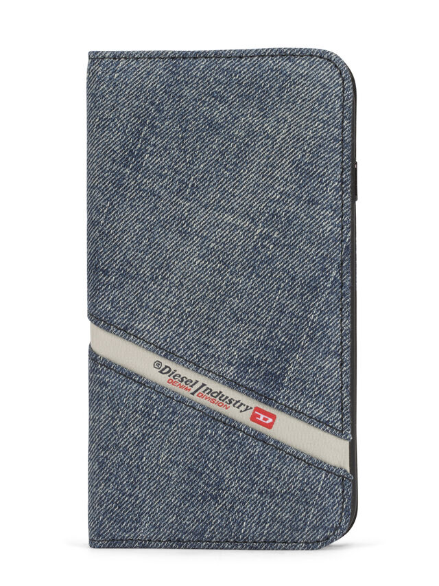 Diesel - DENIM IPHONE 8/7 FOLIO, Jeansblau - Klappcover - Image 2