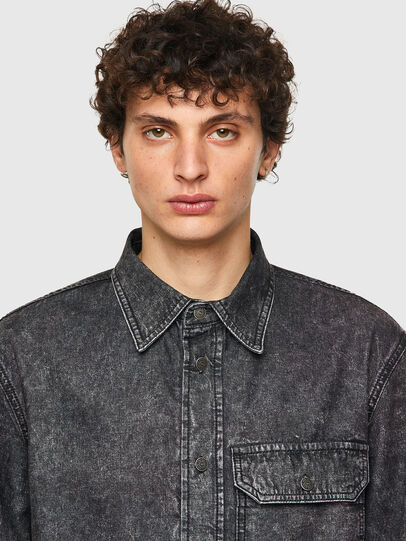 Diesel - D-WRAPP-SP, Black - Denim Shirts - Image 3