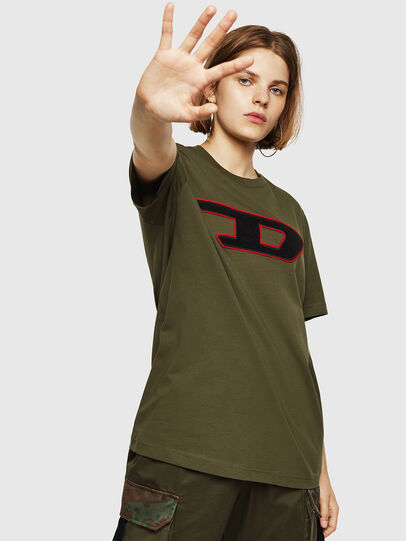 Diesel - T-JUST-DIVISION-D-FL, Armeegrün - T-Shirts - Image 1