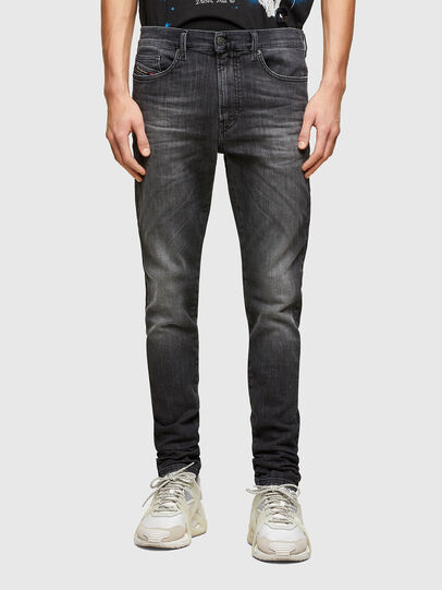 Diesel - D-REEFT JoggJeans® 009SU, Schwarz/Dunkelgrau - Jeans - Image 1