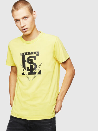 Diesel - T-DIEGO-B14, Gelb - T-Shirts - Image 1
