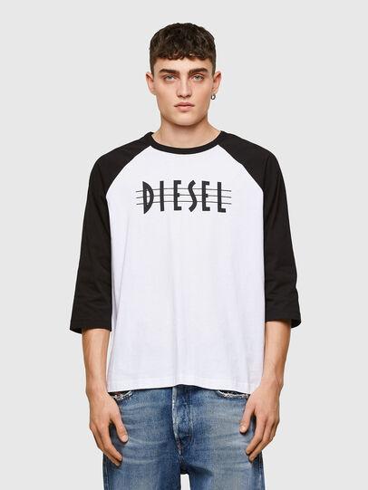 Diesel - T-BEISBOL, Bianco - T-Shirts - Image 1
