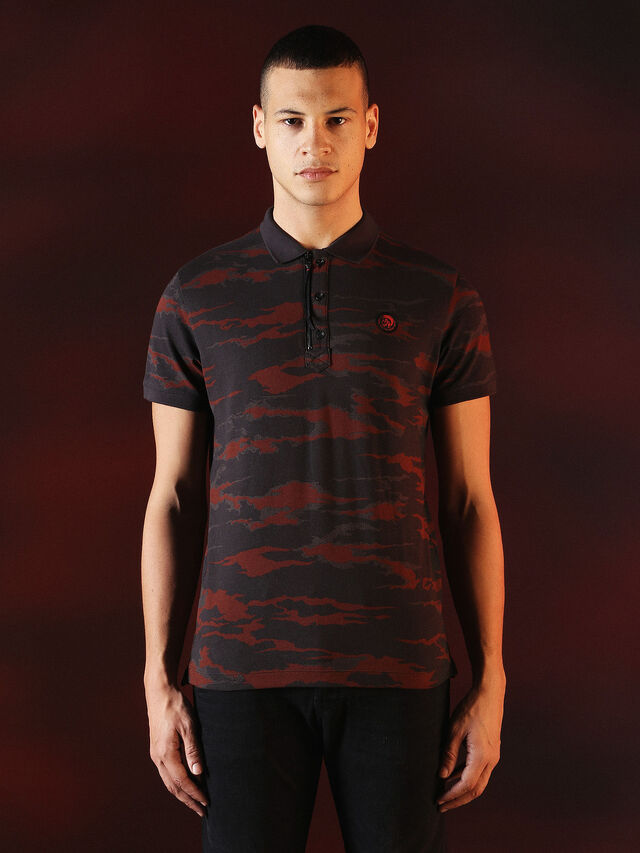 Diesel - DVL-POLO-SPECIAL COLLECTION, Rot/Schwarz - Polohemden - Image 2