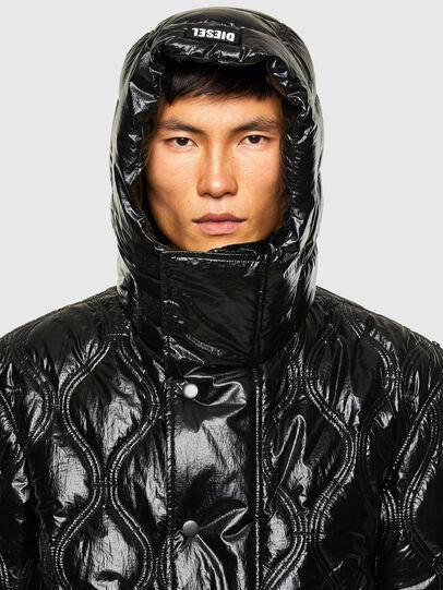 Diesel - W-CRAWFORD-SHINY, Black - Winter Jackets - Image 3