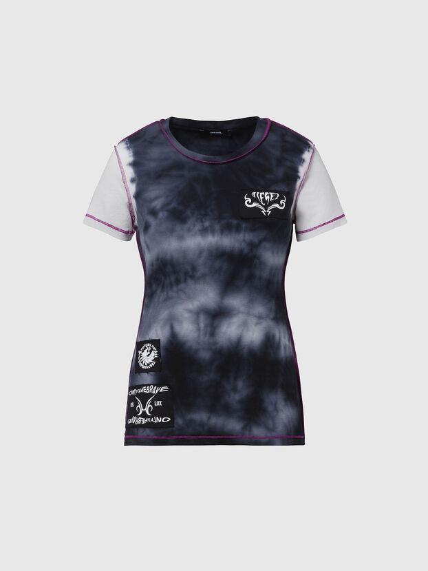 T-SUPERY-V10, Blau/Weiss - T-Shirts
