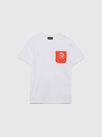 Diesel - TLARS, Bianco/Arancione - T-shirts e Tops - Image 1