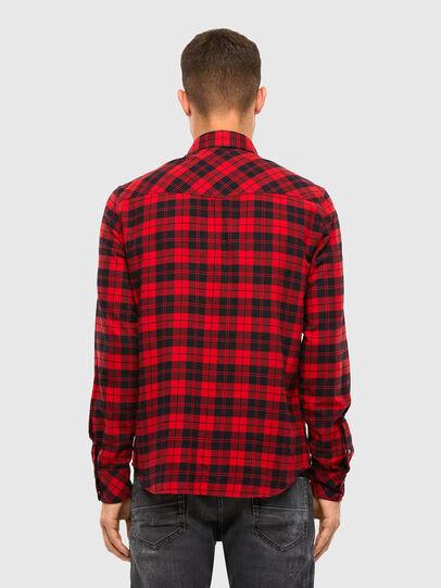 Diesel - S-EAST-LONG-CHK, Noir/Rouge - Chemises - Image 2