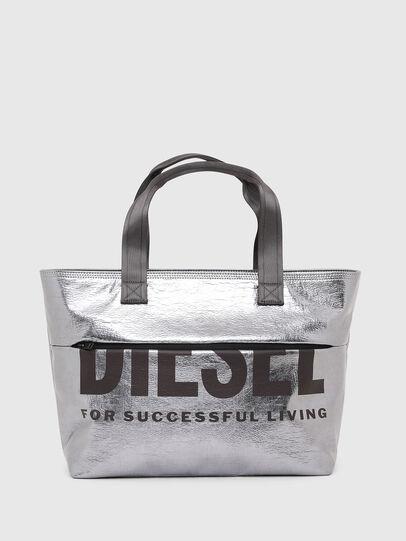 Diesel - F-BOLD SHOPPER III, Silber - Shopper und Schultertaschen - Image 1