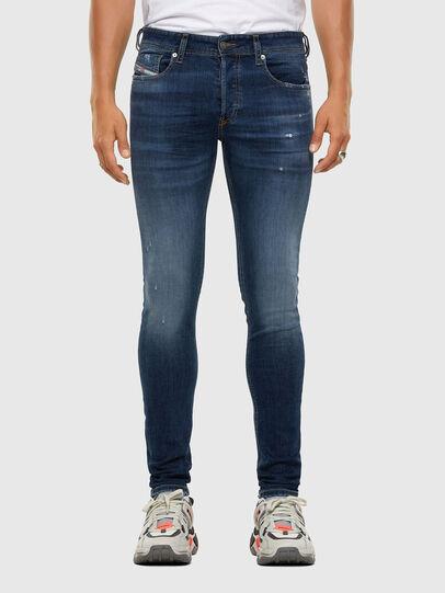 Diesel - Sleenker 009DK, Bleu Foncé - Jeans - Image 1