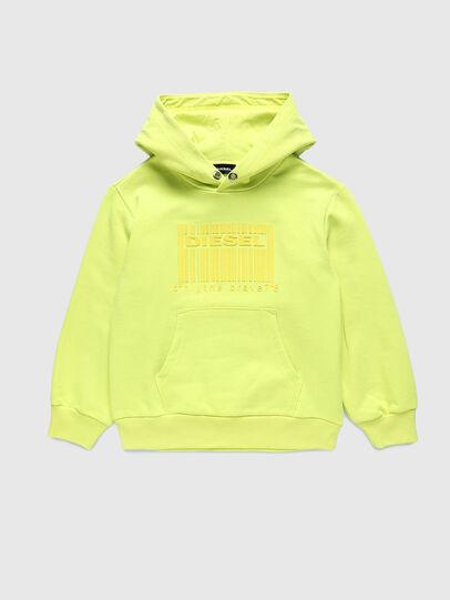 Diesel - SGIRKHOODCODE OVER, Neongrün - Sweatshirts - Image 1