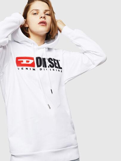 Diesel - F-GIR-HOOD-DIVISION-, Weiß - Sweatshirts - Image 1