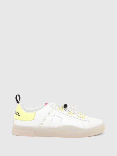 Diesel - S-CLEVER SO C, Bianco/Giallo - Sneakers - Image 1