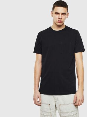 T-RABEN-POCKET, Schwarz - T-Shirts
