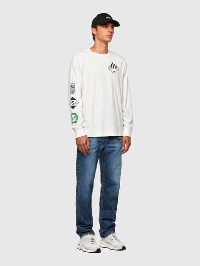 Diesel - T-JUST-LS-N60, Weiß - T-Shirts - Image 5