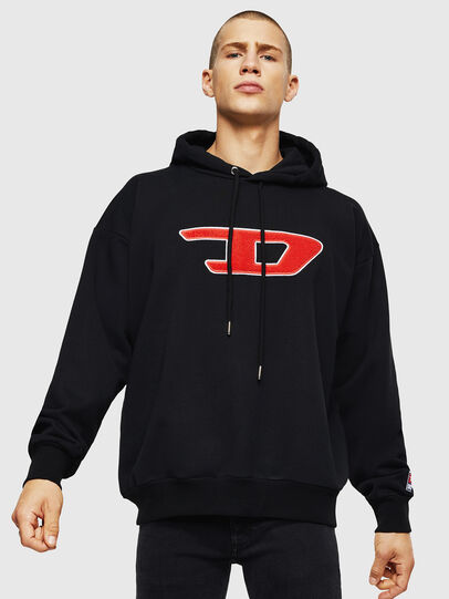 Diesel - S-DIVISION-D, Schwarz - Sweatshirts - Image 1