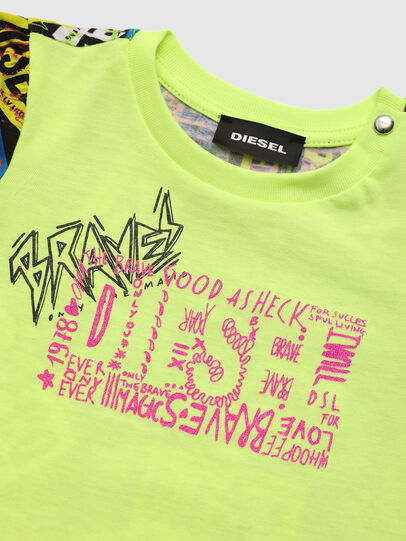 Diesel - TAIRB, Vert Fluo - T-shirts et Hauts - Image 3