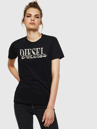 Diesel - T-SILY-WN, Schwarz - T-Shirts - Image 1