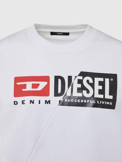 Diesel - F-ANG-CUTY, Weiß - Sweatshirts - Image 3