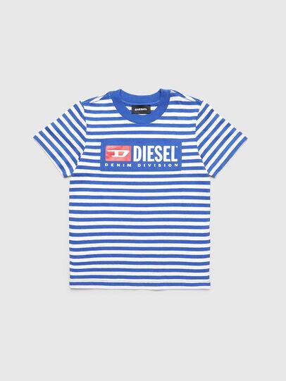 Diesel - TVIKB-R, Blau/Weiß - T-Shirts und Tops - Image 1