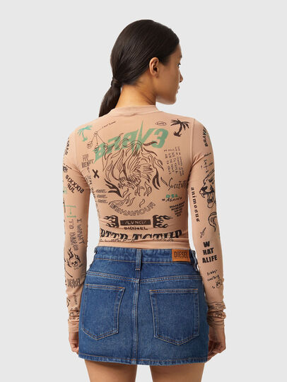 Diesel - T-SIELAY, Rose Poudré - T-Shirts - Image 2