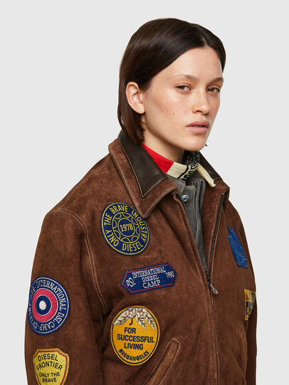 Diesel - DxD-3, Brown - Leather jackets - Image 7