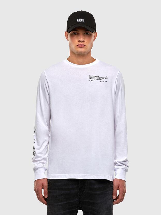 T-JUST-LS-N62, Weiß - T-Shirts