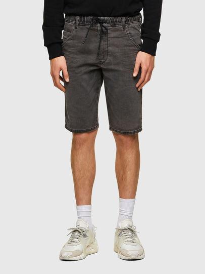Diesel - D-KROOSHORT JOGGJEANS, Noir - Shorts - Image 1