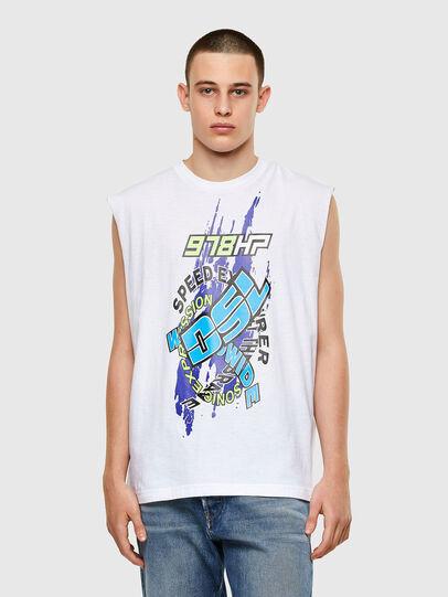 Diesel - T-OP, Bianco - T-Shirts - Image 1