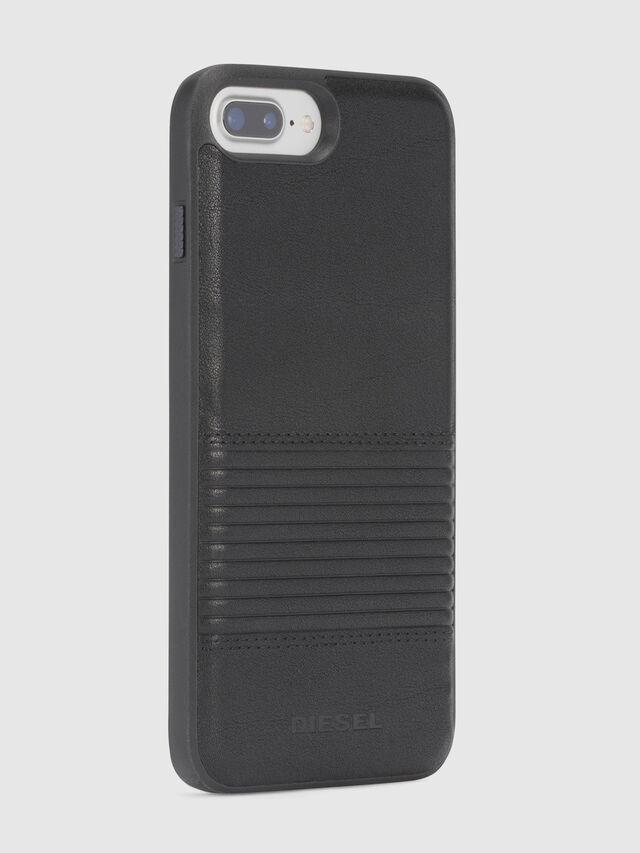 Diesel - BLACK LINED LEATHER IPHONE 8 PLUS/7 PLUS/6s PLUS/6 PLUS CASE, Schwarz - Schutzhüllen - Image 5