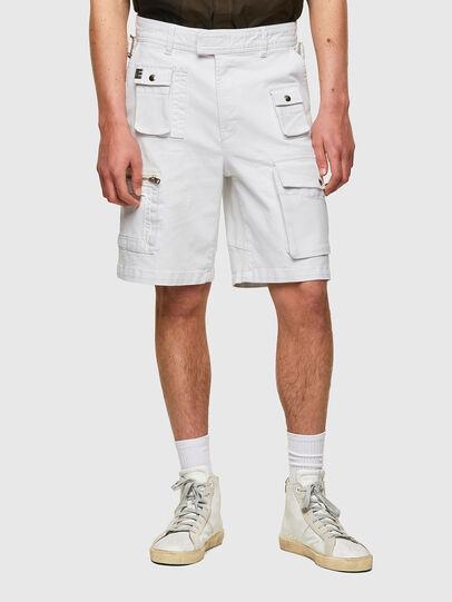 Diesel - D-CYAN-S-SP1, Blanc - Shorts - Image 1