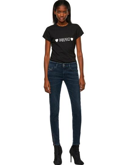 Diesel - Slandy Low 009QF, Blu Scuro - Jeans - Image 5