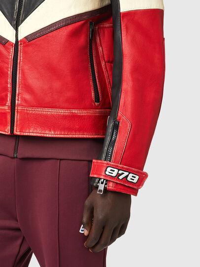 Diesel - L-TEAM, Rouge/Noir - Vestes de cuir - Image 4